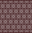 symmetrical seamless pattern with calligraphic vector image vector image