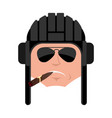 tankman cool serious avatar emoji russian soldier vector image vector image