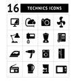 Technics icons vector image vector image