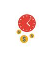 time management icon set four elements vector image vector image