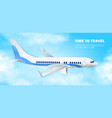 time to travel image with plane in sky vector image