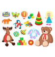 toys collection of factory vector image