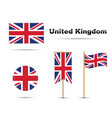 uk flag vector image vector image