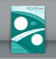vertical business flyer for design vector image