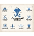 Vintage Nautical Labels or Design Elements With vector image
