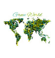 world map floral ornament for your design vector image vector image