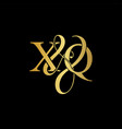 xq x q logo initial mark vector image