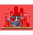Drummer Drum Icons Set Hard Rock Heavy Folk Music vector image