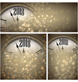 2018 new year backgrounds with clock vector image vector image