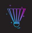 badminton shuttle icon design