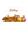 bakery elements product ingredient dessert and vector image