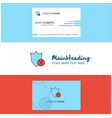 beautiful shield logo and business card vertical vector image