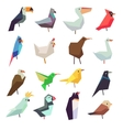Birds in flat style collection vector image vector image