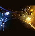 black background with contrasting stars vector image vector image