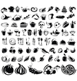 black food icons vector image