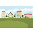 Buildings landscape background vector image vector image