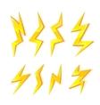 cartoon set of Lightning Bolts vector image vector image