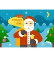 Celebrating Winter Holidays Flat Concept vector image vector image