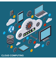 Cloud computing remote control data storage vector image