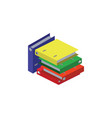 color image a stack of folders bright vector image