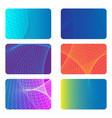 covers design backgrounds for a credit card vector image vector image