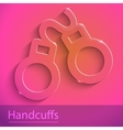 Cuff sign glass icon vector image