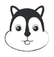 cute and tender chipmunk vector image vector image