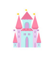 cute magic castle fairytale medieval fortress vector image vector image