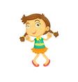 Dancing girl vector image vector image