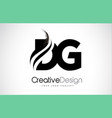 dg d g creative brush black letters design with vector image vector image