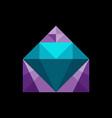 diamond house real estate logo vector image vector image