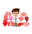 doctor with human internal organs vector image vector image