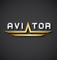 EPS10 aircraft aviator inscription icon vector image vector image