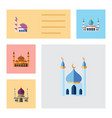 flat icon minaret set of traditional vector image vector image
