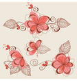 Floral elements page decorations vector image