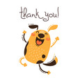 funny dog says thank you in vector image