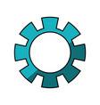 gear machinery piece vector image vector image