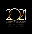 glamour greeting card merry christmas 2021 vector image vector image