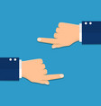 hand with pointing finger left and right side vector image vector image