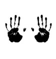 handprints vector image