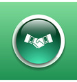 Handshake icon hake meeting business concept vector image