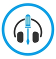 Headphones Tools Rounded Icon vector image