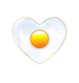 heart fried egg eggs in valentines day cute vector image
