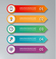 Infographic design template with 5 arrows vector image