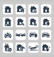 Insurance and accidents icon set vector image