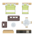 interior top view living bedroom bathroom house vector image vector image