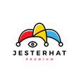 jester hat logo icon vector image