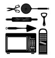 kitchen utensils icon set vector image vector image