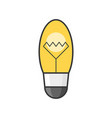 light bulb filled outline icon vector image vector image