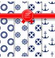 marine summer seamless pattern vector image vector image